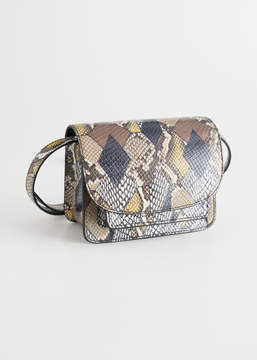 And other stories Leather Flap Over Crossbody Bag