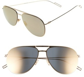 Christian Dior Men's 59Mm Aviator Sunglasses - Gold Metallic