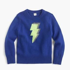 J.Crew Boys' lightning bolt crewneck sweater