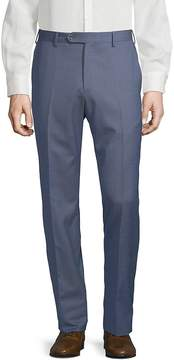 Lubiam Men's Checkered Wool Trousers
