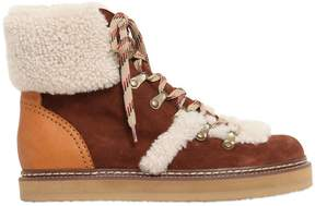 See by Chloe 20mm Suede & Shearling Boots