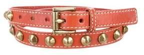 MICHAEL Michael Kors Studded Leather Belt