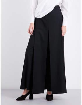 Chalayan Wide-leg wool trousers