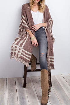 Easel Poncho Open Cardigan