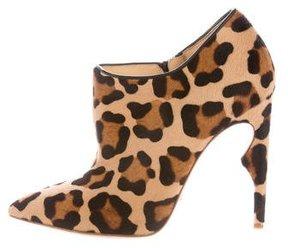 Jerome C. Rousseau Ponyhair Leopard Print Booties