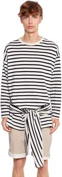 J.W.Anderson Stripe Cotton Jersey Long Sleeve T-Shirt