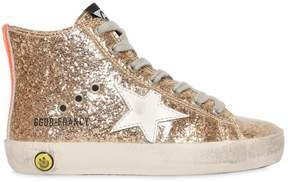 Golden Goose Deluxe Brand Francy Glittered High Top Sneakers