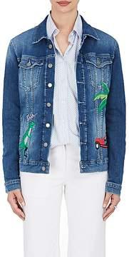 Mira Mikati Women's Rainforest-Embroidered Denim Jacket