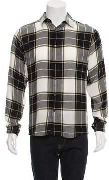 Public School Plaid Button-Up Shirt w/ Tags