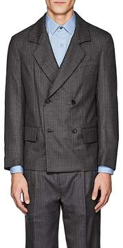 Gosha Rubchinskiy Men's Pinstriped Wool Double-Breasted Sportcoat
