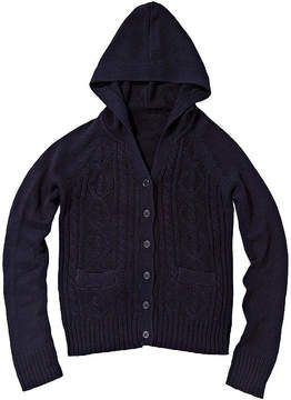 U.S. Polo Assn. USPA Cable-Knit Hoodie - Girls 7-16