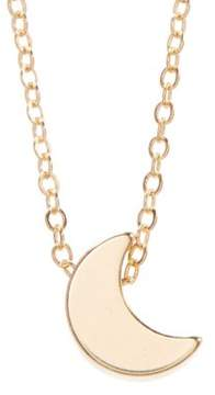 Alpha A A Trendy 18 3d Gold Moon Charm Womens Fashion Necklace