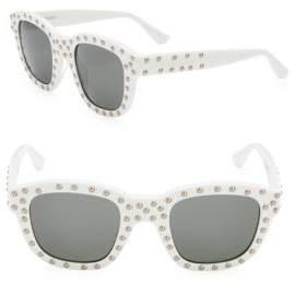 Saint Laurent 48MM Studded Wayfarer Sunglasses