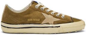 Golden Goose Deluxe Brand Green Suede V-Star 2 Sneakers