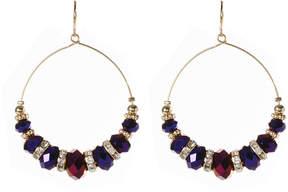 Amrita Singh Austrian Crystal & Metallic Purple Apiya Drop Earrings
