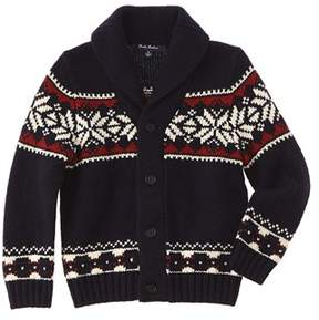 Brooks Brothers Boys' Navy Snowflake Wool-blend Sweater.