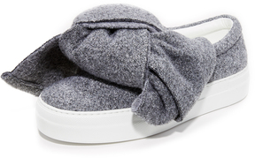 Joshua Sanders Lurex Bow Sneakers