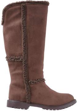 Joe Fresh Kid Girls' Tall Boots, Dark Brown (Size 13)