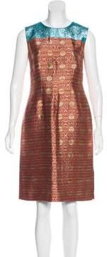 Dries Van Noten Brocade Sheath Dress
