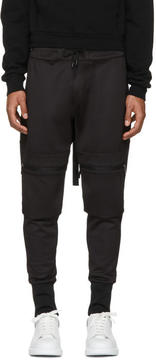 Pyer Moss Black Hook Cargo Lounge Pants