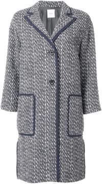 Agnona woven single breasted coat