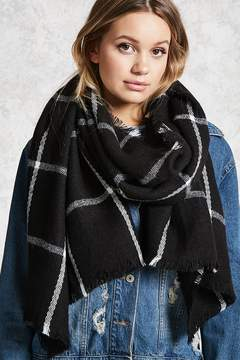 FOREVER 21 Grid Pattern Oblong Scarf