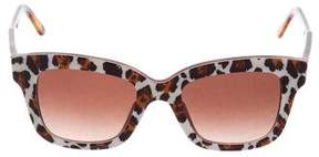 Stella McCartney Animal Print Tinted Sunglasses