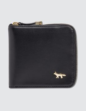 Maison Kitsune Zipped Wallet Leather