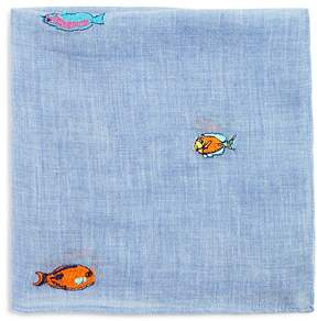 Paul Smith Embroidered Fish Pocket Square