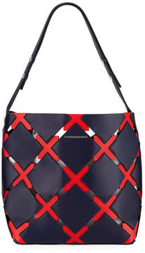 Calvin Klein Quilted Puzzle Bucket Bag