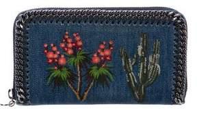 Stella McCartney Denim Embroidered Wallet