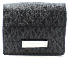 Michael Kors Black PVC Signature Jet Set Item Card Carryall Wallet - BLACKS - STYLE