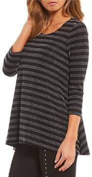 Chelsea & Theodore Lurex Stripe Tunic