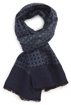 Nordstrom Men's Diamond Weave Silk Blend Scarf