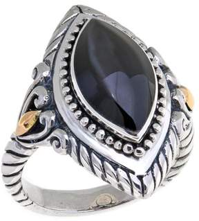 Mother of Pearl Bali Designs by Robert Manse Marquise Peacock Mother-of-Pearl 2-Tone Ring