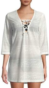 J Valdi Lace-Up Front Coverup