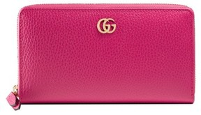 Gucci Women's Petite Marmont Leather Zip Around Wallet - Pink - BLACK - STYLE