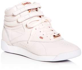 Reebok Women's Freestyle Hi Leather High Top Sneakers