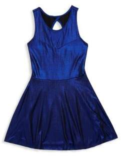 Un Deux Trois Girl's Back Keyhole Fit-&-Flare Dress