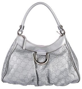 Gucci Guccissima D-Ring Hobo - METALLIC - STYLE
