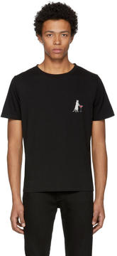 Saint Laurent Black Martini Cat T-Shirt