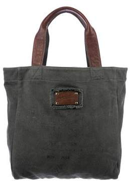 Dolce & Gabbana Leather-Trimmed Canvas Tote