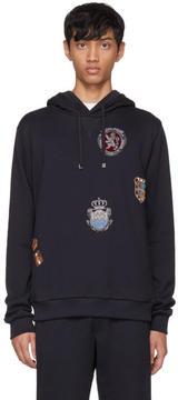 Dolce & Gabbana Navy Embroidered Crest Hoodie