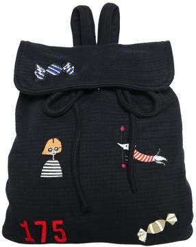 Sonia Rykiel Textured Jersey Backpack W/ Patches