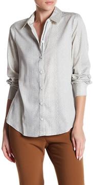 Foxcroft Long Sleeve Shaped Mix Print Shirt