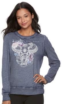Fifth Sun Juniors' Hamsa Elephant Graphic Sweatshirt