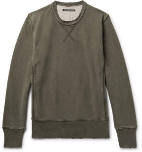 Co Fabric-Brand & Distressed Loopback Cotton-Jersey Sweatshirt