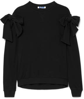 Sjyp Knotted Cotton-jersey Sweatshirt - Black