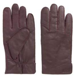 HUGO BOSS Nappa Leather Gloves Kranton 9Red