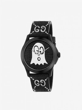 Gucci Watch G-timeless Rubber Watch Case 38 Mm With Monogram And Ghost